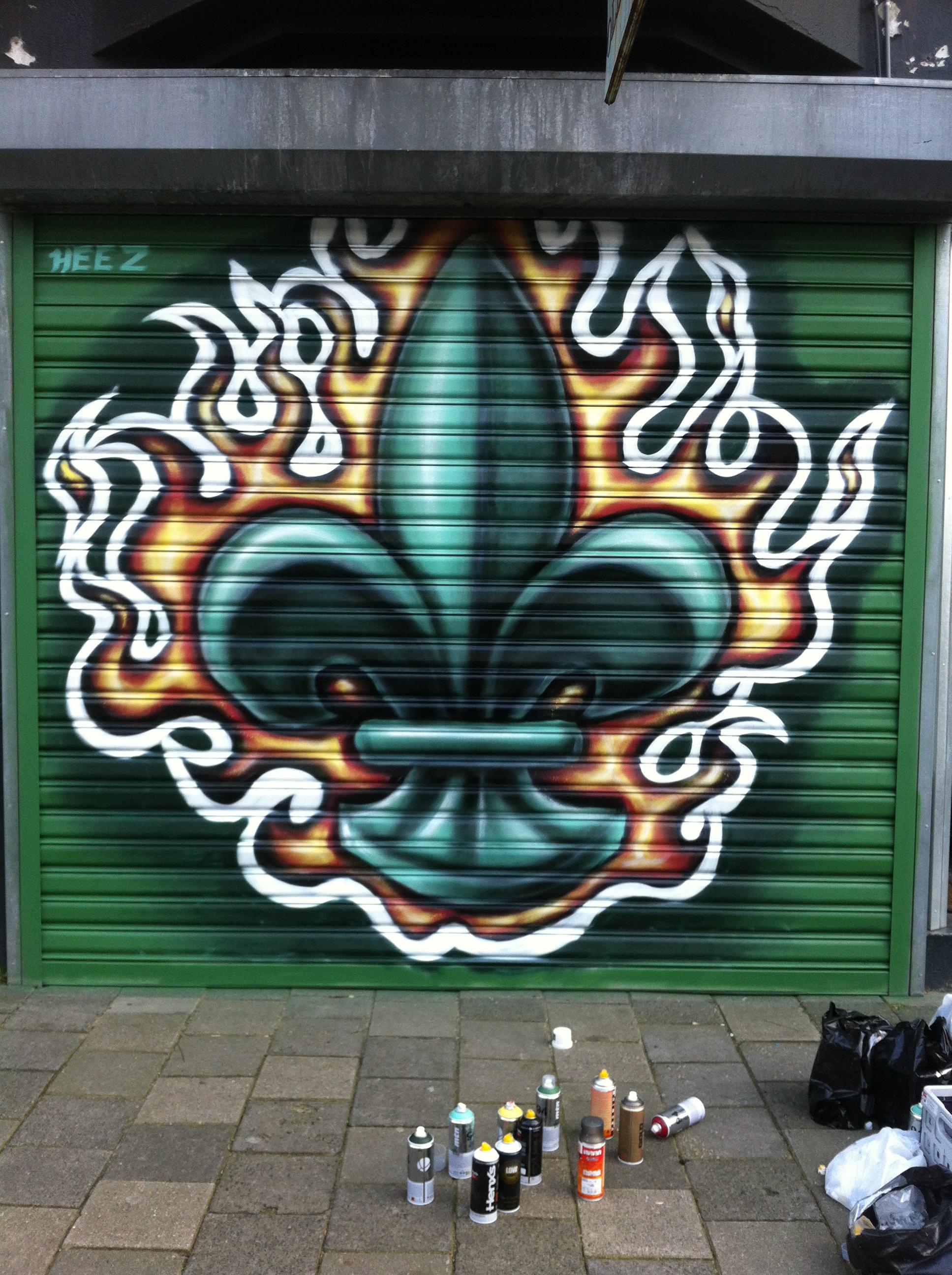 Graffiti wall tattoo - The
