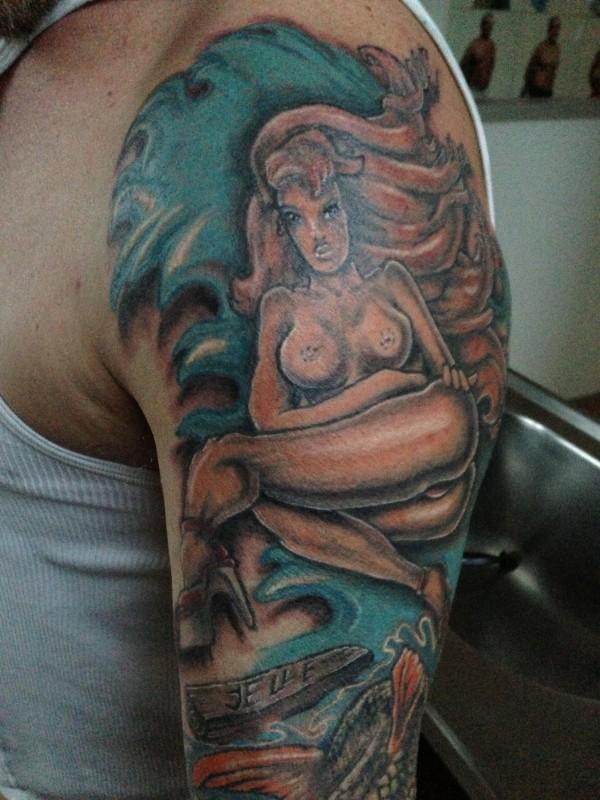 Wilkin tattoo pinup Boven 1