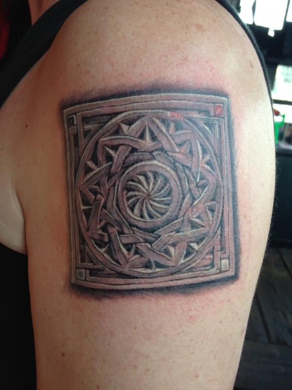 Gert Kramer houtsnijwerk Tattoo