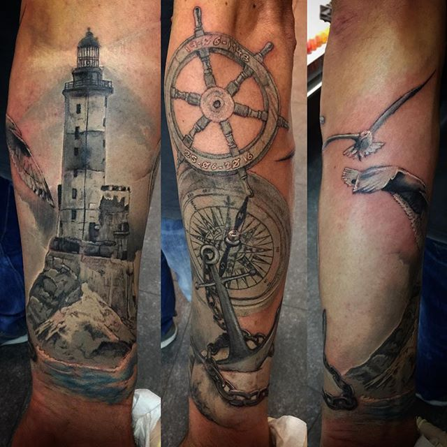 nautical-half-sleeve