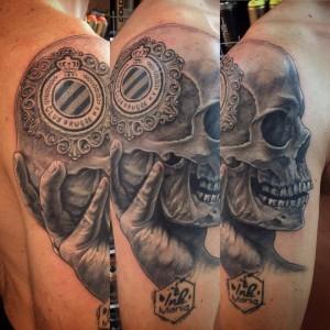Club brugge skull peter van der helm creative peter for Tattoo art club