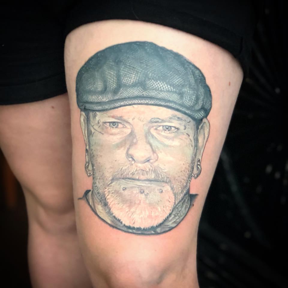 Portrait tattoo by Peter van der Helm
