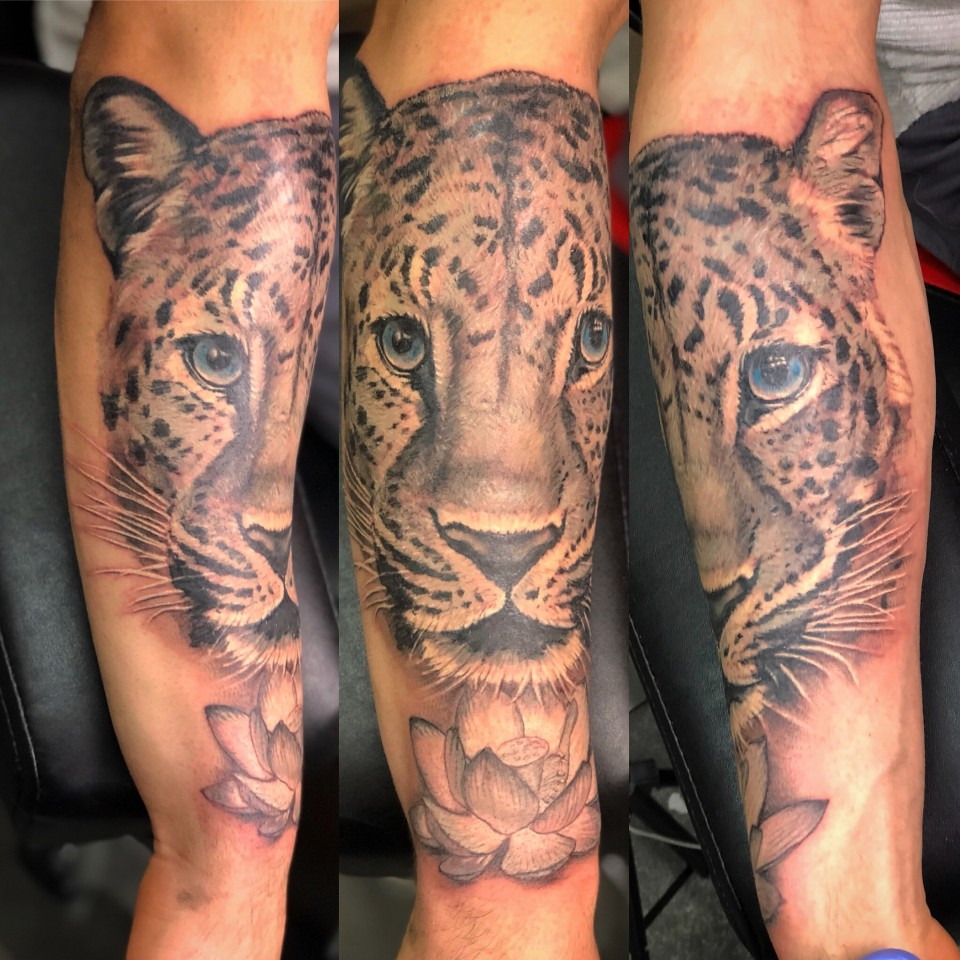 Realistic Panther Tattoo