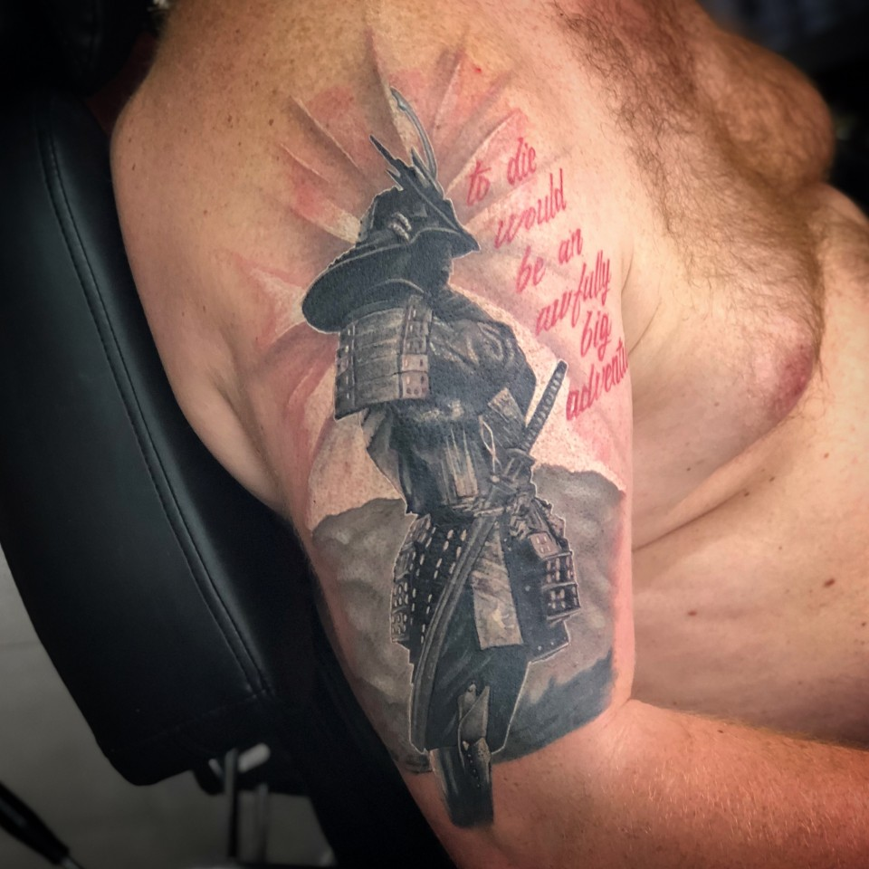 Samurai tattoo on Bjorn