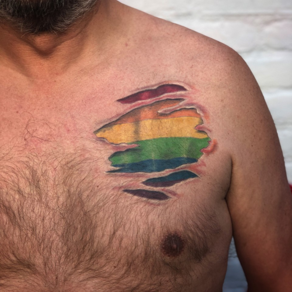 healed gay tattoo
