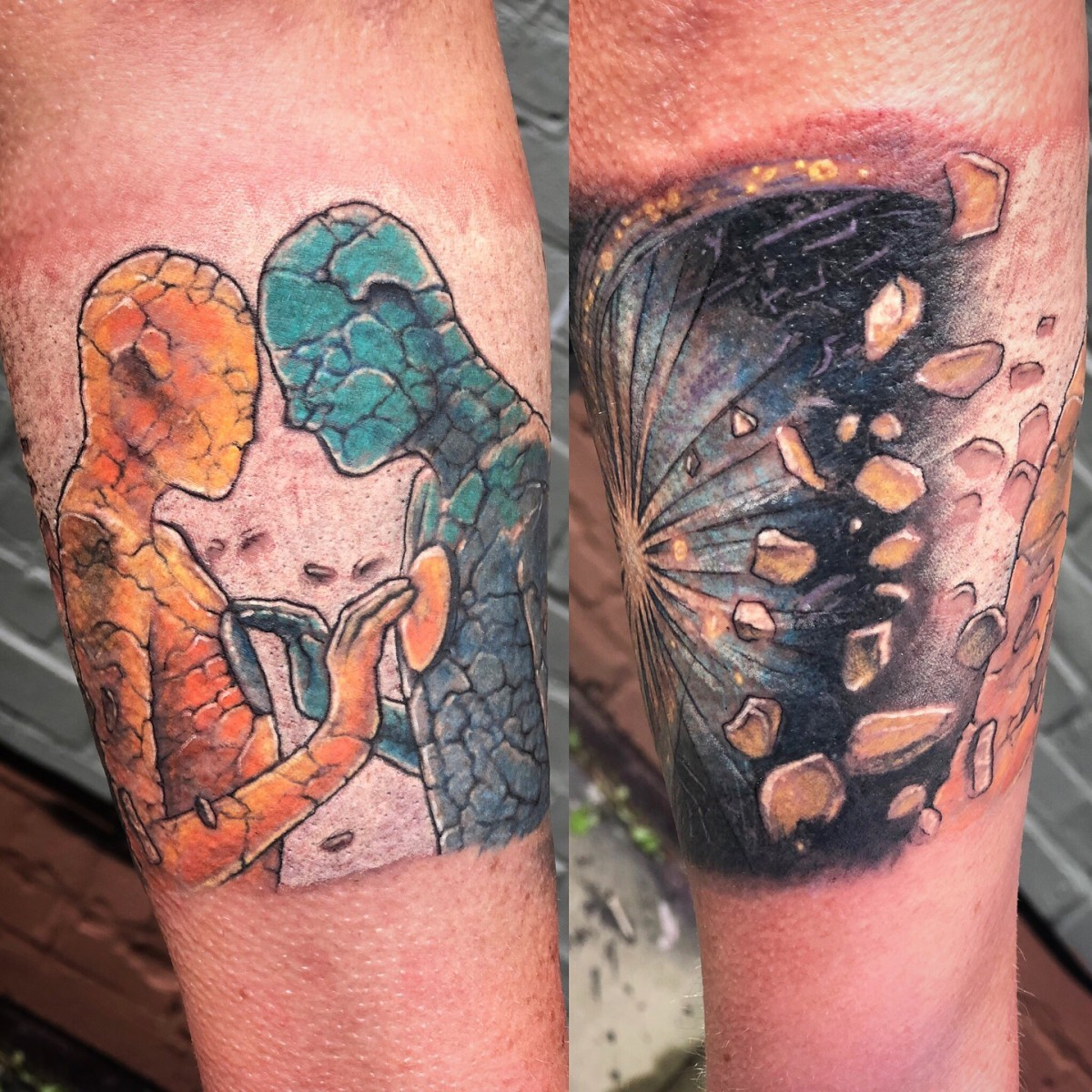 Color tattoo by Peter van der Helm - Walls and Skin